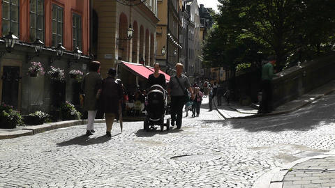 Stockholm Downtown 26 Gamla Stan Stock Video Footage