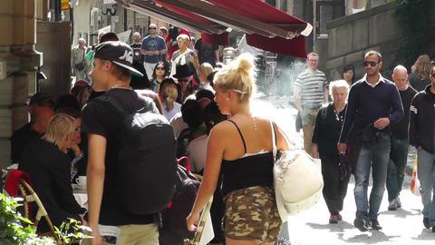 Stockholm Downtown 28 Gamla Stan Stock Video Footage