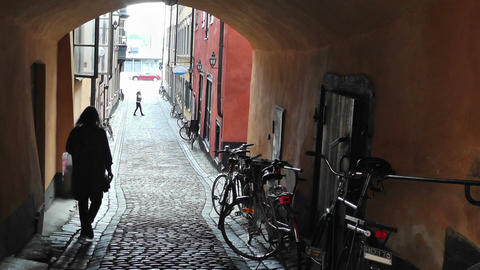 Stockholm Downtown 30 Gamla Stan Stock Video Footage