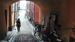 Stockholm Downtown 30 Gamla Stan Stock Video Footage