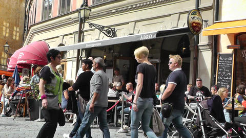 Stockholm Downtown 32 Gamla Stan Stock Video Footage