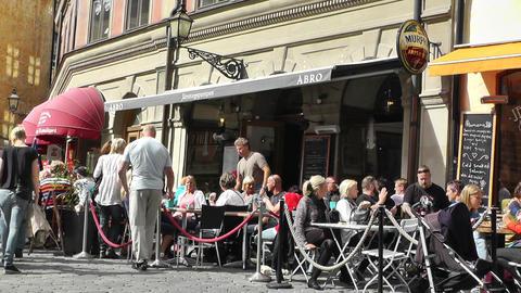 Stockholm Downtown 32 Gamla Stan Stock Video Footage