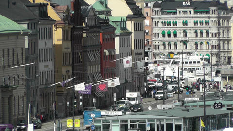 Stockholm Downtown 36 Gamla Stan Stock Video Footage