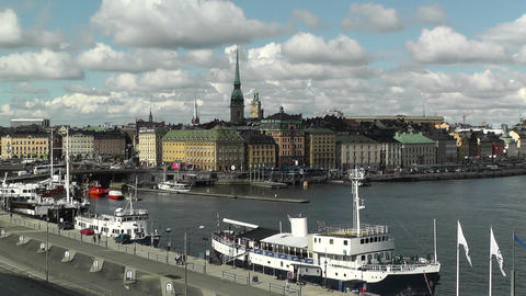 Stockholm Downtown 38 Gamla Stan Stock Video Footage