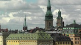 Stockholm Downtown 40 Gamla Stan Clouds Timelapse Footage