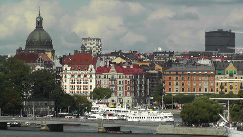 Stockholm Downtown 42 Stock Video Footage