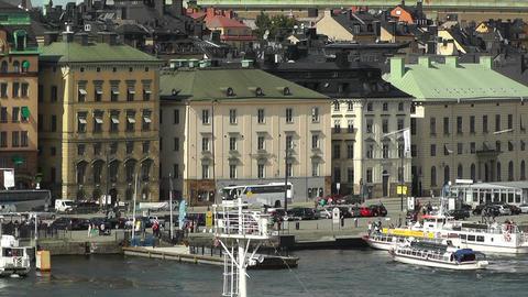 Stockholm Downtown 44 Gamla Stan Stock Video Footage