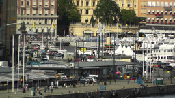 Stockholm Downtown 46 Gamla Stan Stock Video Footage