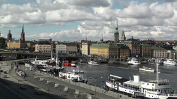 Stockholm Downtown 48 Gamla Stan Clouds Timelapse Stock Video Footage