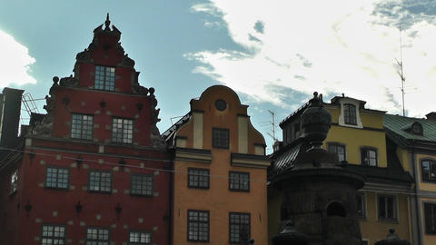 Stockholm Downtown 50 Gamla Stan Stock Video Footage