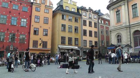 Stockholm Downtown 52 Gamla Stan Stock Video Footage
