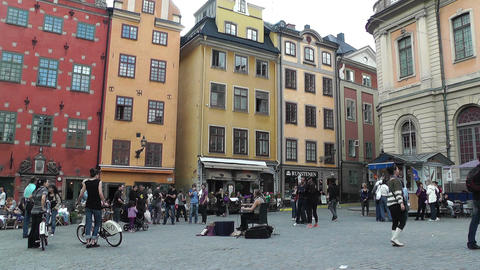 Stockholm Downtown 52 Gamla Stan Stock Video Footage
