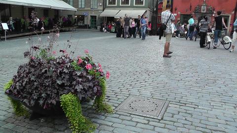 Stockholm Downtown 54 Gamla Stan Stock Video Footage