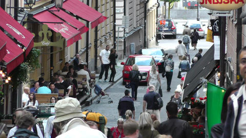 Stockholm Downtown 56 Gamla Stan Stock Video Footage