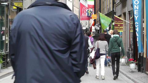 Stockholm Downtown 58 Gamla Stan Stock Video Footage