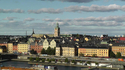 Stockholm Downtown 60 Gamla Stan Stock Video Footage