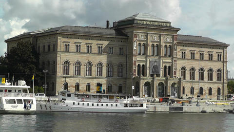 Stockholm Downtown Swedish National Museum 03 Stock Video Footage