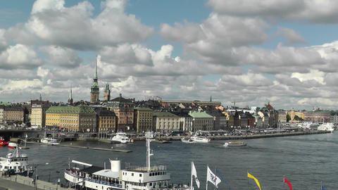 Stockholm Port 06 Stock Video Footage