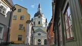 Stockholm Street and Katarina Church 01 Footage