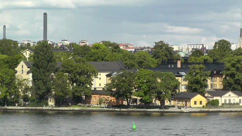 Stockholm View 01 suburb Stock Video Footage