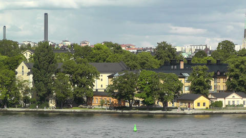 Stockholm View 01 suburb Footage