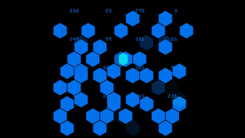 Hexagon chemical molecular Stock Video Footage