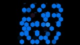 Hexagon chemical molecular Animation