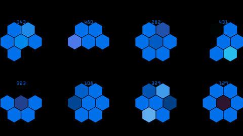 Hexagon chemical molecular Stock Video Footage