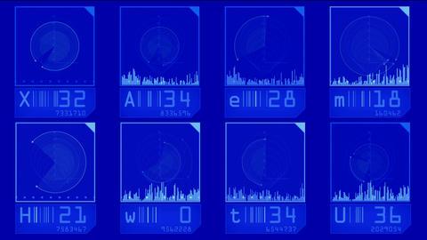 aviation radar GPS navigation screen display,tech... Stock Video Footage