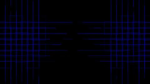 tech power cross lines mesh,virtual computer electric... Stock Video Footage