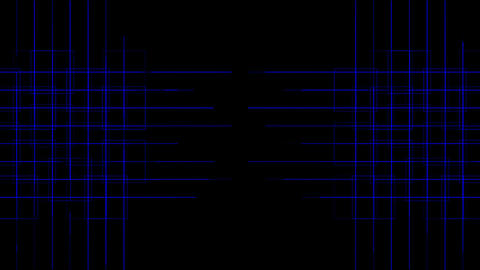tech power cross lines mesh,virtual computer electric circuit Animation