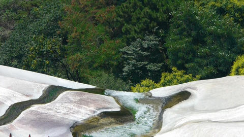 river stream on boulders mountain Stock Video Footage