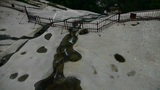 river stream on boulders mountain Footage
