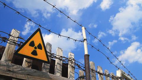 Radiation, warning symbol Stock Video Footage