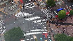 Tokyo, Japan - Shibuya pedestrian crossing also known as Shibuya scramble Footage