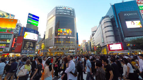 Tokyo, Japan - Shibuya pedestrian crossing also known as Shibuya scramble Footage