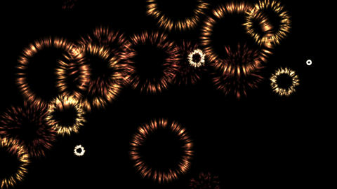4k Golden circle ring firework fire,wedding,artistic ripple particle background Live Action