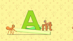 Ant. English ZOO Alphabet - letter A Live Action