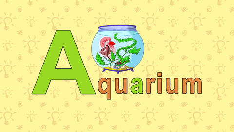 Aquarium. English ZOO Alphabet - letter A Live Action