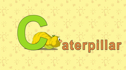 Caterpillar. English ZOO Alphabet - letter C Live Action