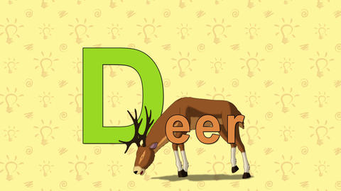 Deer. English ZOO Alphabet - letter D Live Action