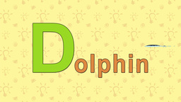 Dolphin. English ZOO Alphabet - letter D Live Action