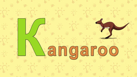 Kangaroo. English ZOO Alphabet - letter K Live Action