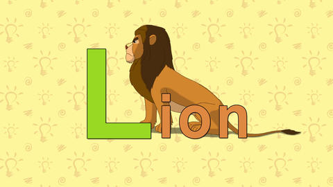 Lion. English ZOO Alphabet - letter L Live Action