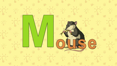 Mouse. English ZOO Alphabet - letter M Live Action