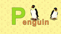 Penguin. English ZOO Alphabet - letter P Live Action