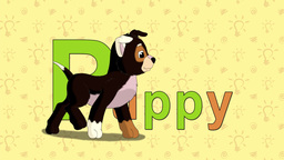 Puppy. English ZOO Alphabet - letter P Live Action