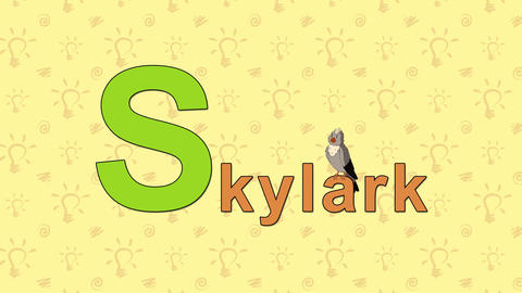 Skylark. English ZOO Alphabet - letter S Live Action