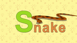 Snake. English ZOO Alphabet - letter S Live Action