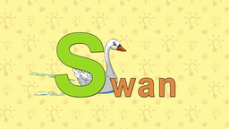 Swan. English ZOO Alphabet - letter S Live Action